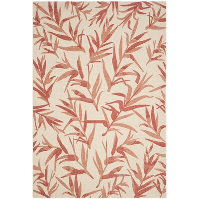 Amaryllis Beige & Terracotta Area Rug Rug Size: 67 x 96