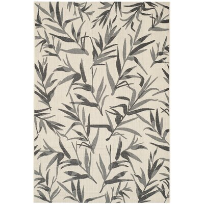 Higgs Beige/Anthracite Area Rug Rug Size: 53 x 77