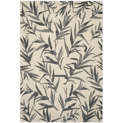 Higgs Beige/Anthracite Area Rug Rug Size: 9 x 12