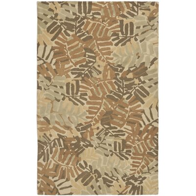 Palm Leaf Hand-Loomed Spud Area Rug Rug Size: Rectangle 8 x 10