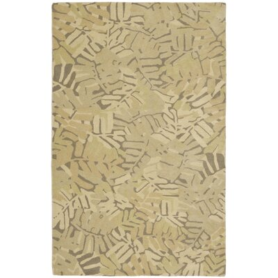 Palm Leaf Hand-Loomed Oolong Tea Area Rug Rug Size: Round 8 x 8