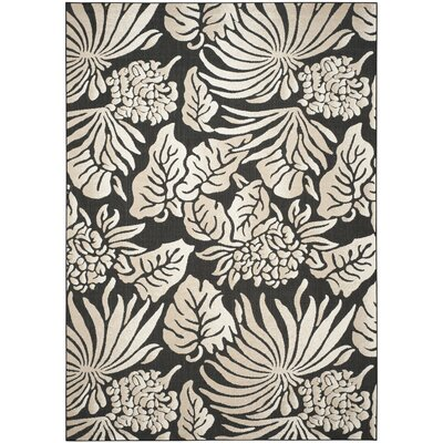 Bahama Black Indoor/Outdoor Area Rug Rug Size: 8 x 112