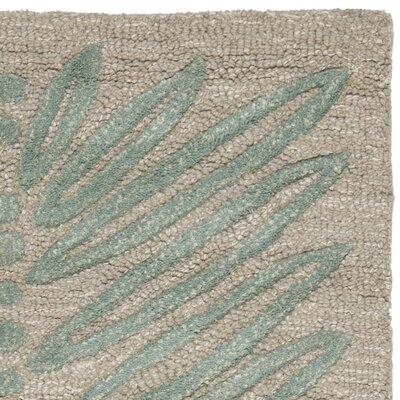 Chevron Leaves Hand-Tufted Blue Fir Area Rug Rug Size: 8 x 10