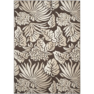 Patricia Brown Area Rug Rug Size: 67 x 96