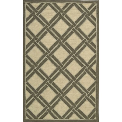 Atlantic Hand-Woven Ivory Area Rug Rug Size: Rectangle 2'6
