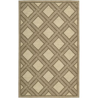 Atlantic Hand-Woven Ivory/Beige Area Rug Rug Size: Rectangle 5 x 8