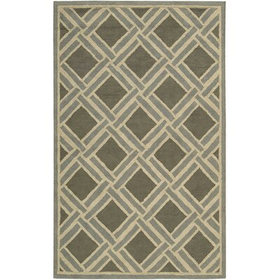 Atlantic Hand-Woven Gray Area Rug Rug Size: Rectangle 5 x 8