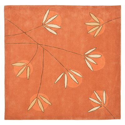 Felton Hand-Tufted Rust Area Rug Rug Size: Square 8