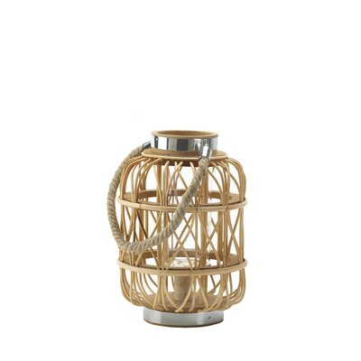 Duncan Glass / Metal / Wood Lantern Size: Small