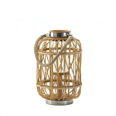 Duncan Glass / Metal / Wood Lantern Size: Medium