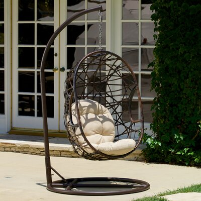Duncombe Egg-Shaped Outdoor Swing Chair with Stand