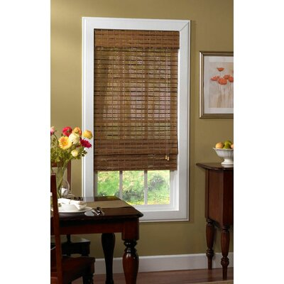 Bamboo Roman Shade Size: 64 L x 52 W, Color: Pecan