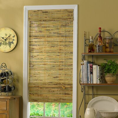 Room Darkening Roman Shade Size: 39 W x 64 L, Color: Natural