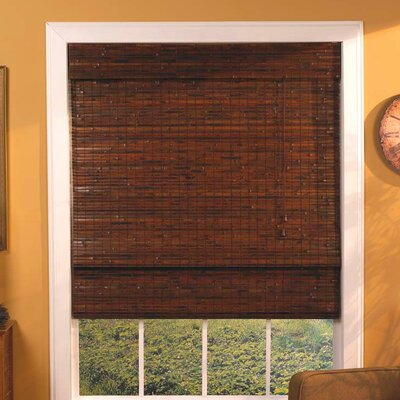 Room Darkening Roman Shade Size: 39 W x 64 L, Color: Mahogany