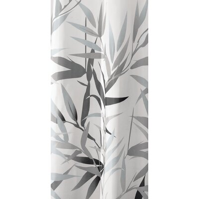 Barleria Shower Curtain Color: Black/Tan