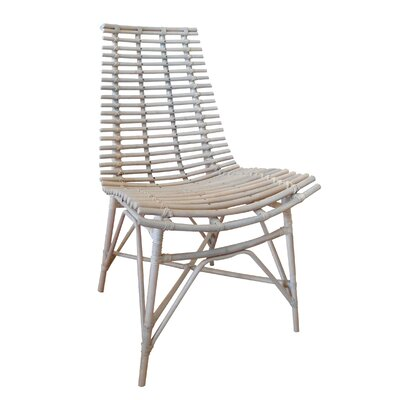 Roxana Side Chair Color: White Wash