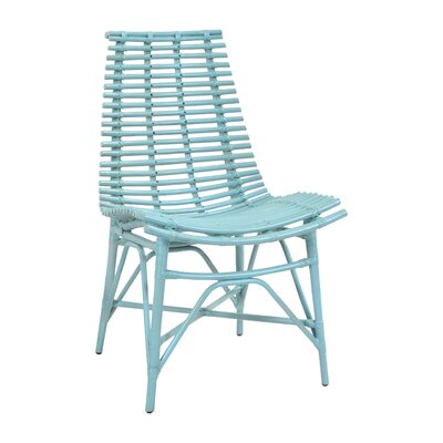 Roxana Side Chair Color: Sky Blue