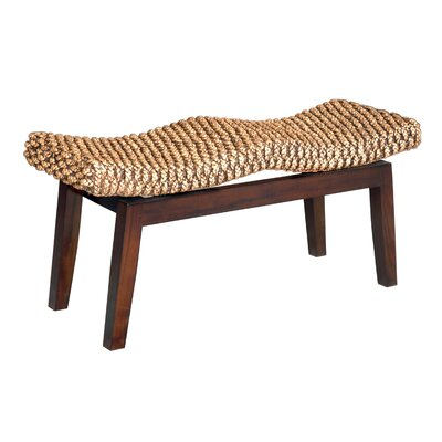 Santibanez Wood Entryway Bench Color: Mahogany