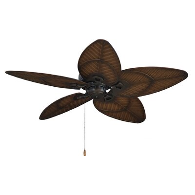 14 Albury 5-Blade Ceiling Fan Finish: Venetian Bronze with Antique Stain Wicker Blades