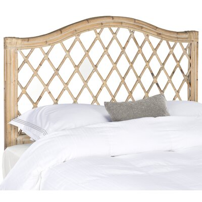 Patterson Open-Frame Headboard Size: Queen, Color: White Washed