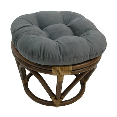 Lafitte Papasan Ottoman Upholstery: Steel Grey
