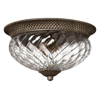 Terry 3-Light Flush Mount Finish: Pearl Bronze