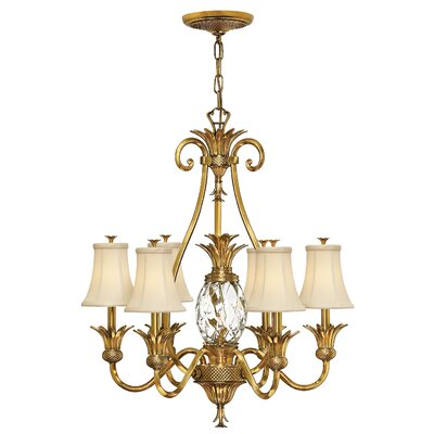 Terry 7-Light Shaded Chandelier Color: Burnished Brass