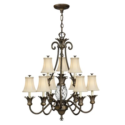 Terry 10-Light Shaded Chandelier Finish: Pearl Bronze