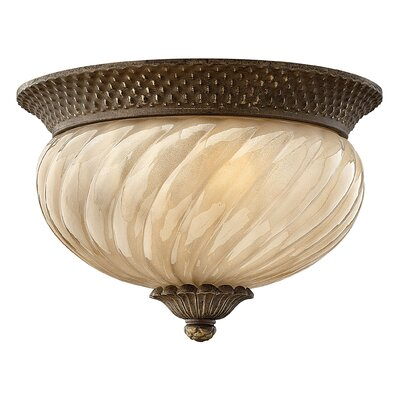 Plantation 2-Light Flush Mount Energy Star Compliant: Standard, Bulb Type: Incandescent