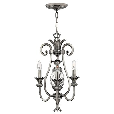 Terry 3-Light Candle-Style Chandelier Finish: Polished Antique Nickel