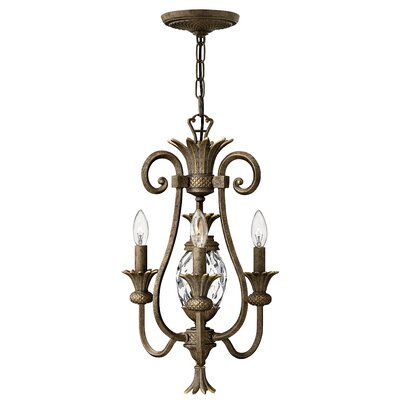 Terry 3-Light Candle-Style Chandelier Finish: Pearl Bronze