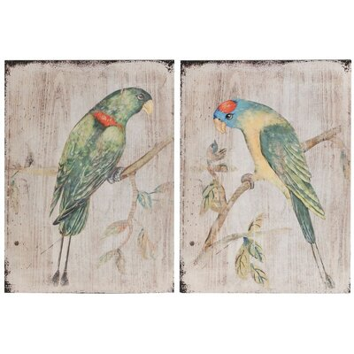 Bay Isle Home 2 Piece Parrot Wall Dcor Set