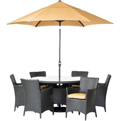 George 7 Piece Dining Set with Cushions