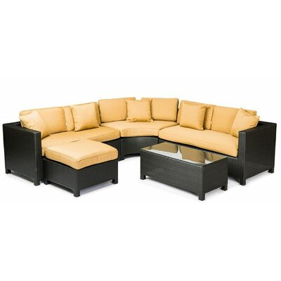 George 5 Piece Sectional Seating Group with Cushions
