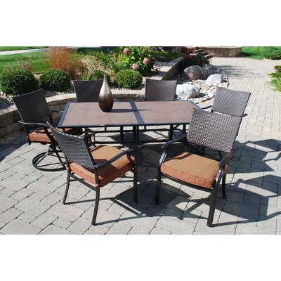 Indies 7 Piece Dining Set with Cushions