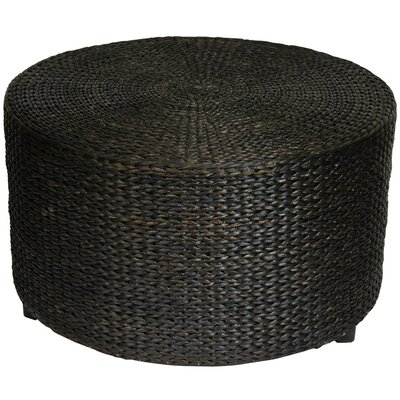 Kianna Rush Grass Coffee Table/Ottoman Color: Black