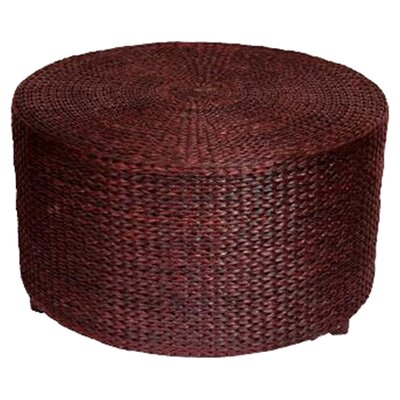 Kianna Rush Grass Coffee Table/Ottoman Finish: Red Brown