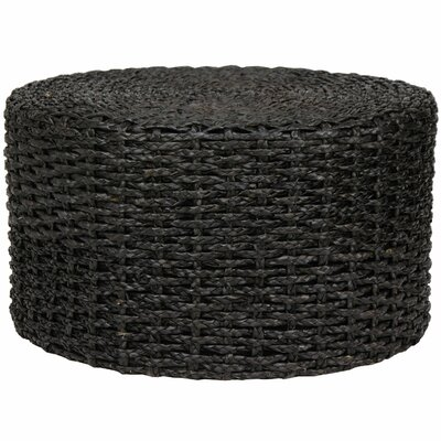 Kianna Rush Grass Knotwork Coffee Table Color: Black