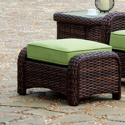 Chorio Ottoman with Cushion Fabric: Cayenne