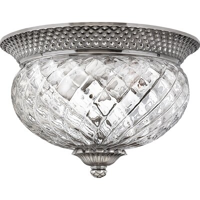 Terry 2-Light Flush Mount Finish: Polished Antique Nickel