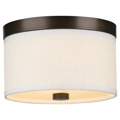 Mccoy 2-Light Flush Mount Shade Color: White Grasscloth