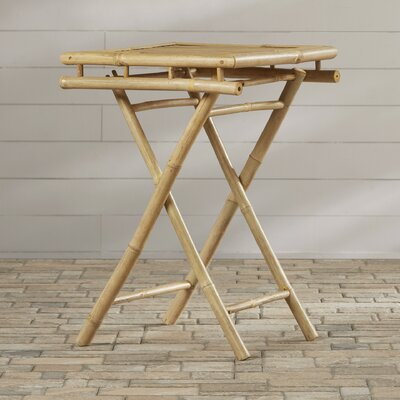 Porter Folding Bamboo Side Table