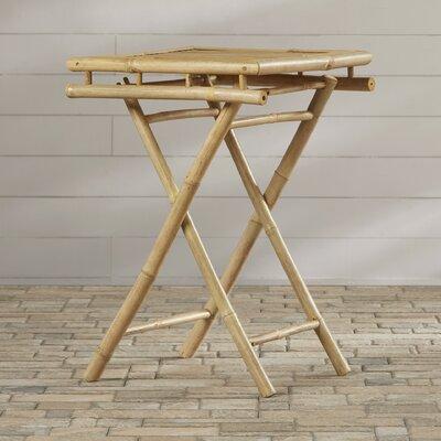 Porter Folding Bamboo Side Table