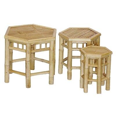 Porter 3 Piece Bamboo Nesting Stool Set