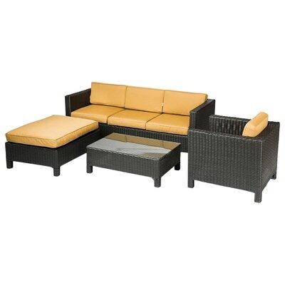George 4 Piece Deep Seating Group with Cushion