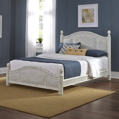 Dessie Panel Bed Size: Queen, Finish: White