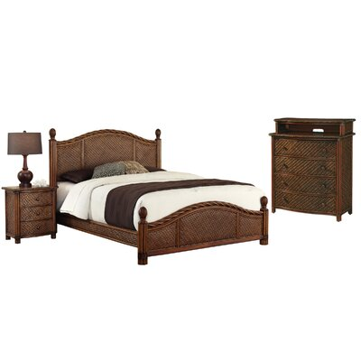 Dessie Panel 3 Piece Mahogany Bedroom Set Size: Queen, Finish: Refined Cinnamon