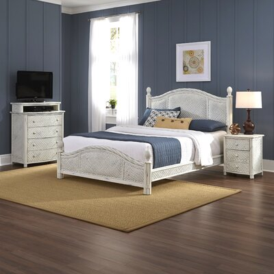 Dessie Panel 3 Piece Mahogany Bedroom Set Size: Queen, Finish: White