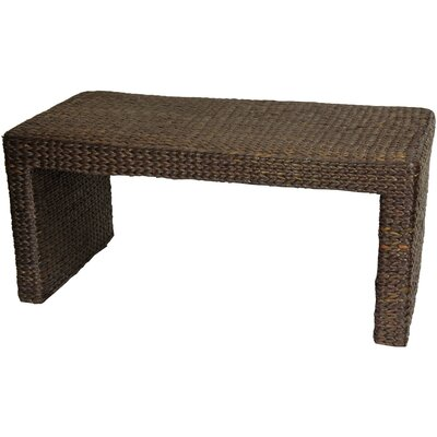 Kianna Coffee Table Color: Red Brown