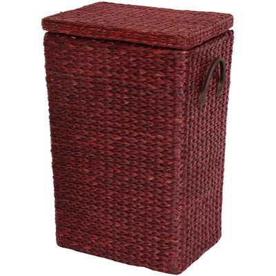 Horsetail Laundry Hamper Finish: Red Brown